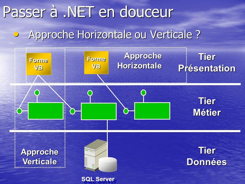 Passer à .NET en douceur Approche Horizontale ou Verticale