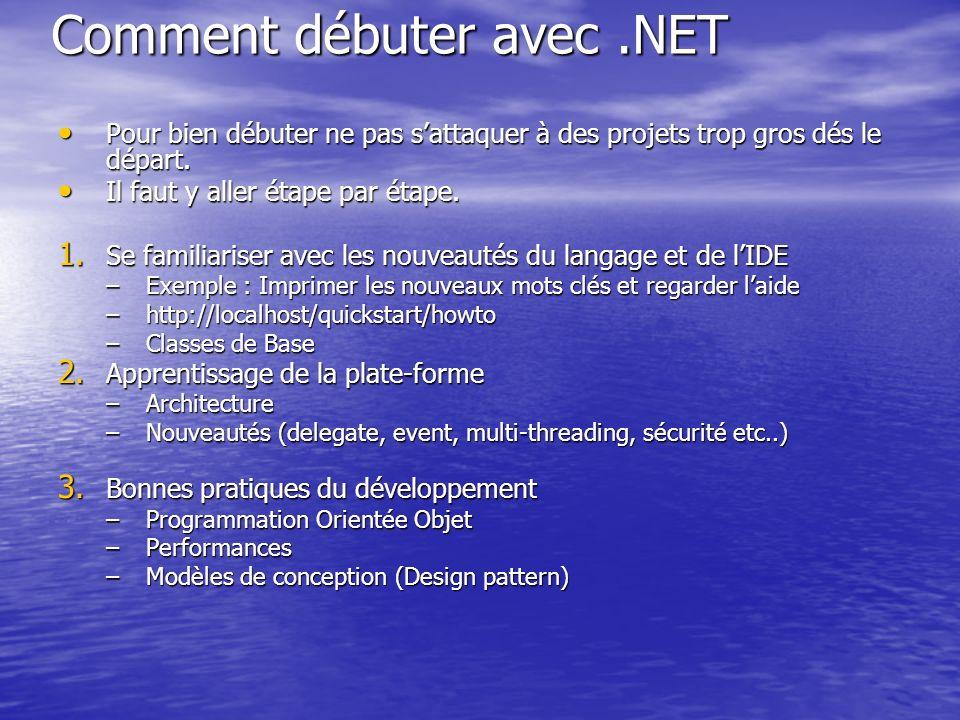 Comment débuter avec .NET