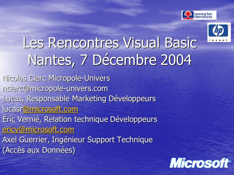 Les Rencontres Visual Basic Nantes, 7 Décembre 2004