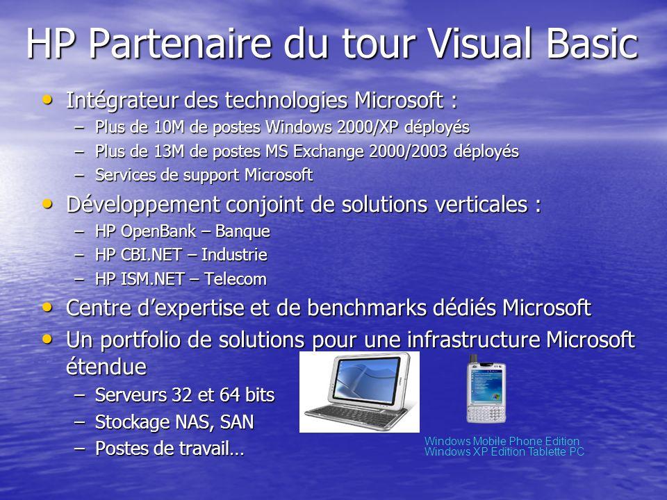 HP Partenaire du tour Visual Basic