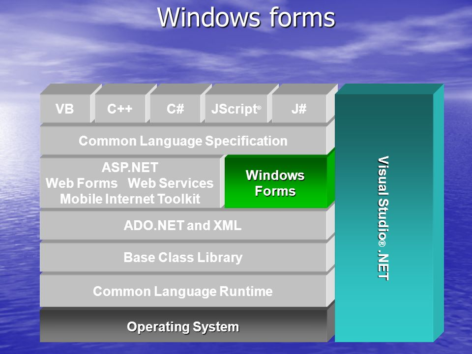 Windows forms Operating System Common Language Runtime