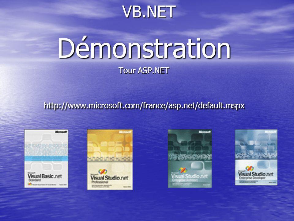 Démonstration VB.NET Tour ASP.NET
