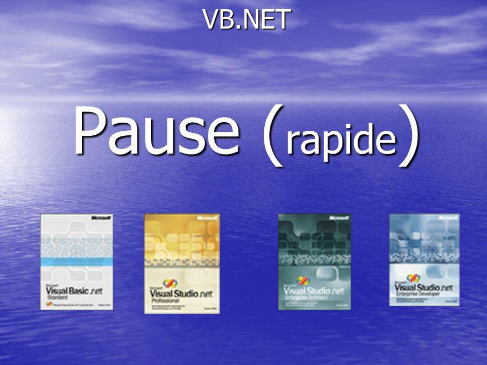 VB.NET Pause (rapide)
