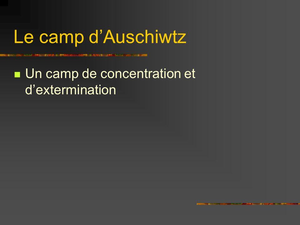 Le camp d'Auschiwtz Un camp de concentration et d'extermination
