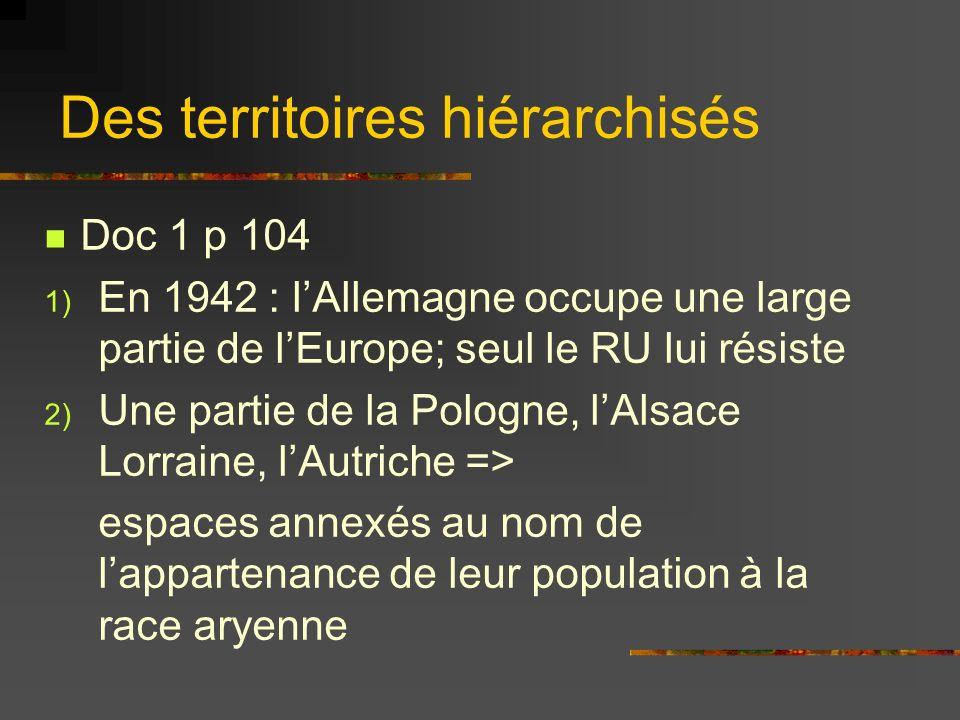 Des territoires hiérarchisés