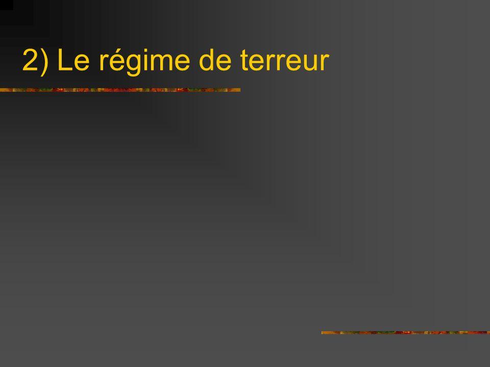 2) Le régime de terreur