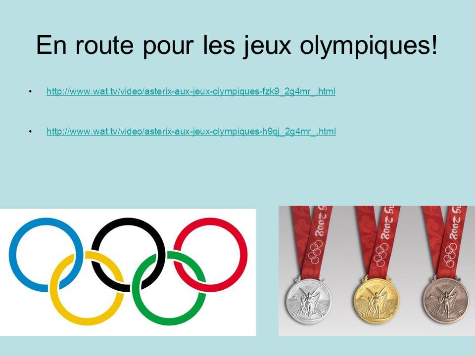 En route pour les jeux olympiques!