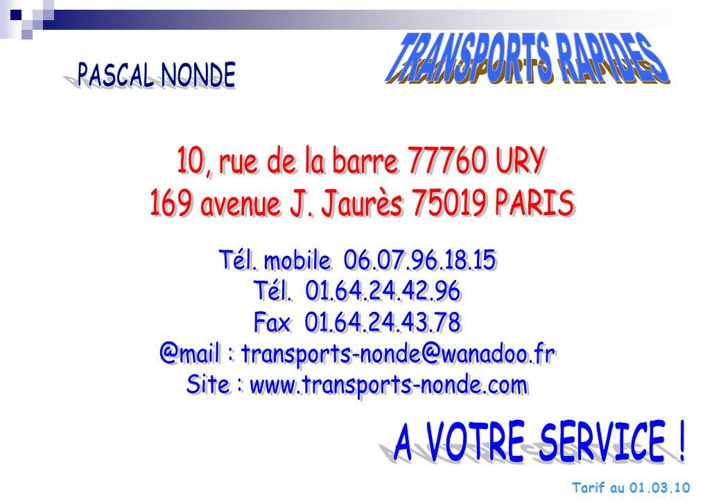 10, rue de la barre 77760 URY 169 avenue J. Jaurès 75019 PARIS