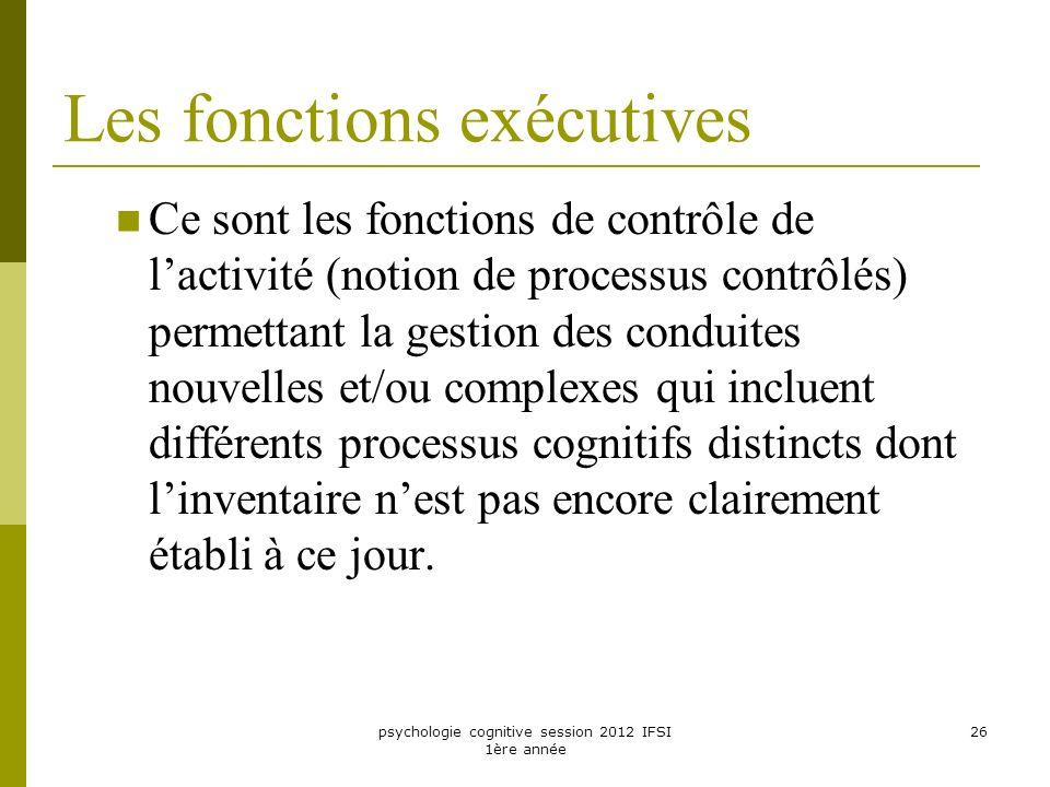 Les fonctions exécutives