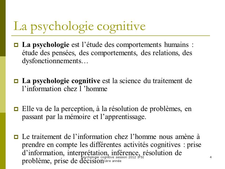La psychologie cognitive