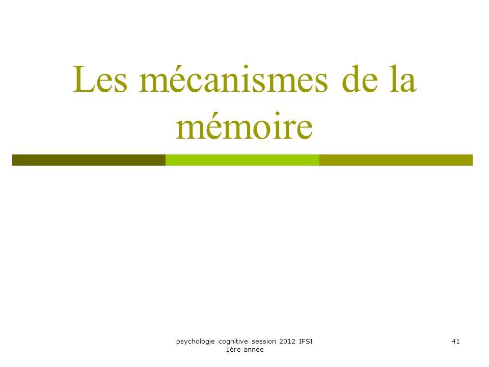 Les mécanismes de la mémoire