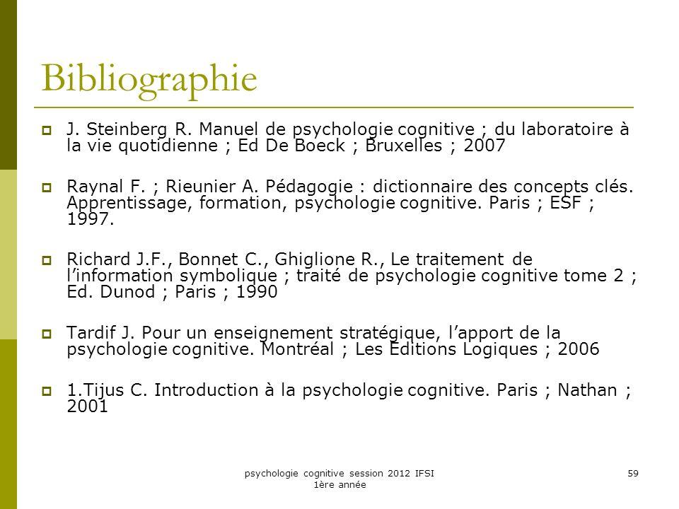 psychologie cognitive session 2012 IFSI 1ère année