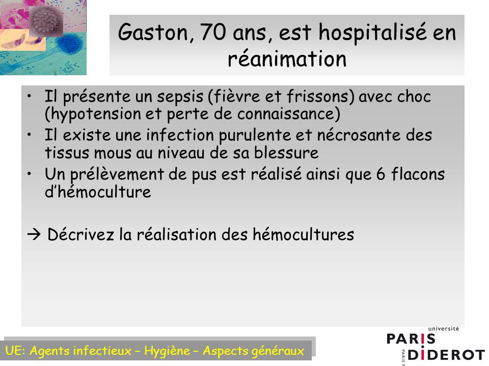 Gaston, 70 ans, est hospitalisé en réanimation
