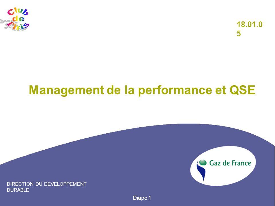 Management de la performance et QSE