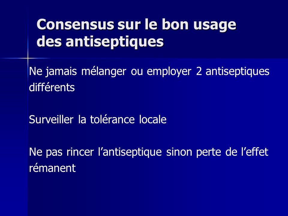 Consensus sur le bon usage des antiseptiques