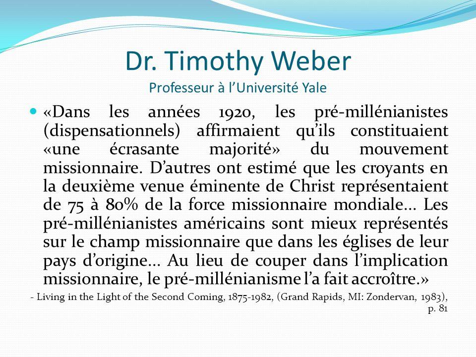 Dr. Timothy Weber Professeur à l'Université Yale