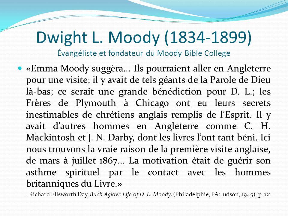 Dwight L. Moody (1834-1899) Évangéliste et fondateur du Moody Bible College