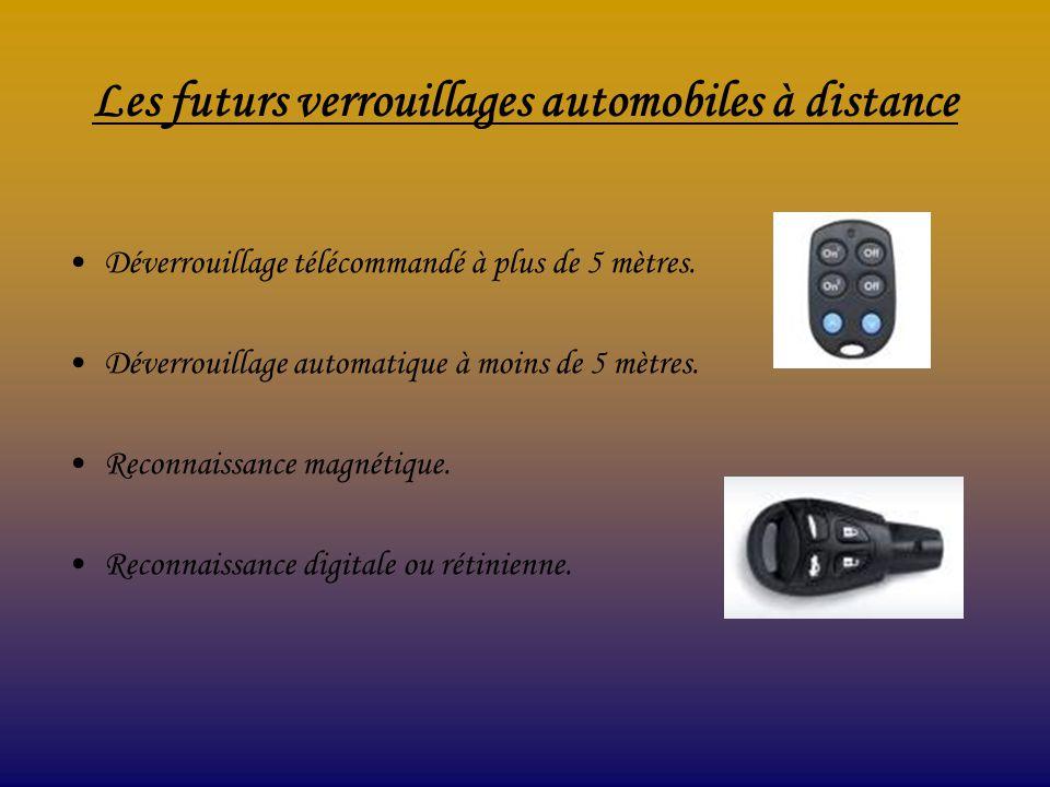 Les futurs verrouillages automobiles à distance