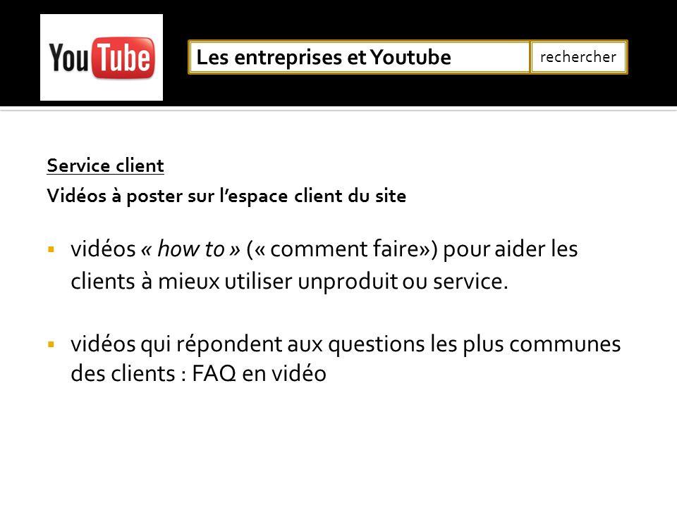 Les entreprises et Youtube