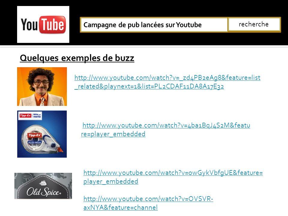 Campagne de pub lancées sur Youtube