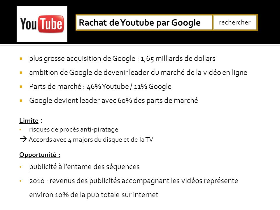 Rachat de Youtube par Google