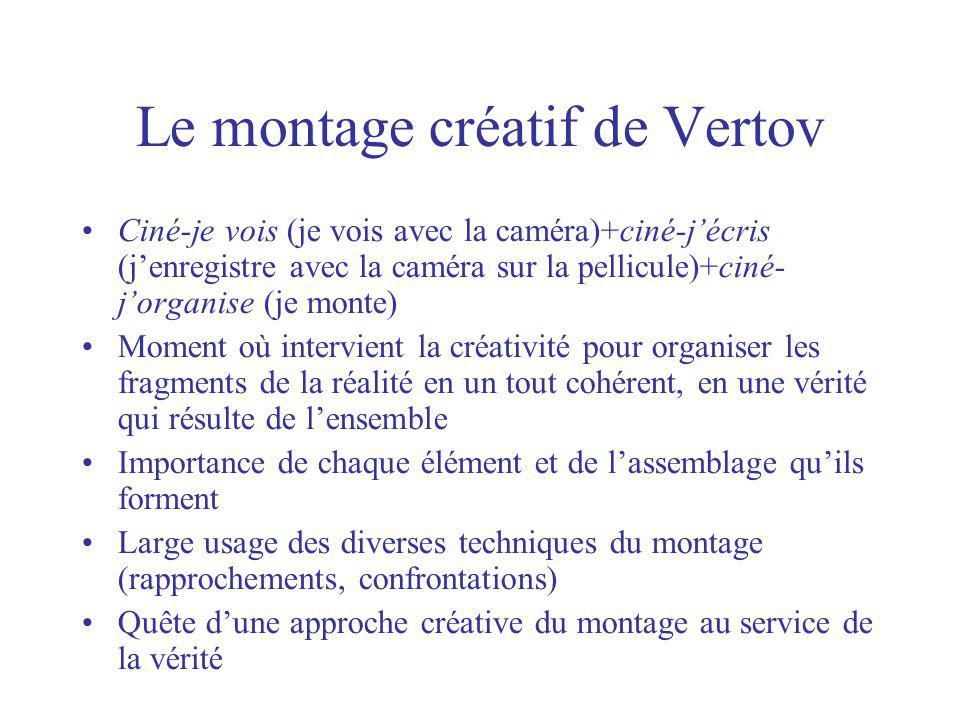 Le montage créatif de Vertov