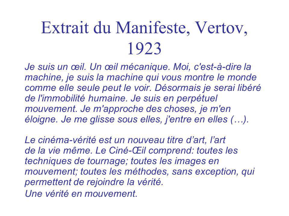 Extrait du Manifeste, Vertov, 1923