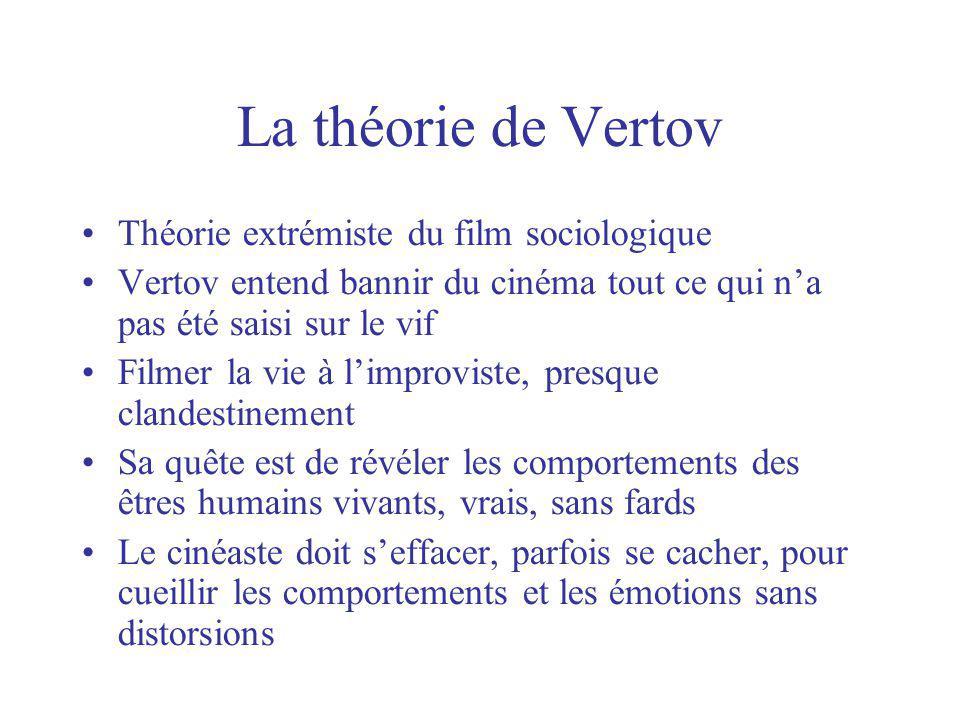 La théorie de Vertov Théorie extrémiste du film sociologique