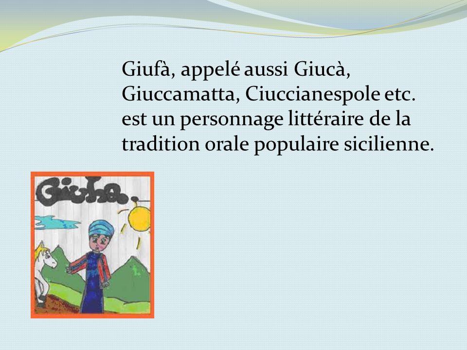 Giufà, appelé aussi Giucà, Giuccamatta, Ciuccianespole etc