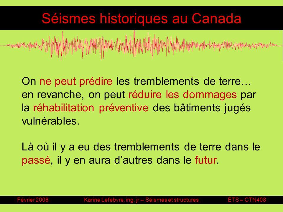 Séismes historiques au Canada