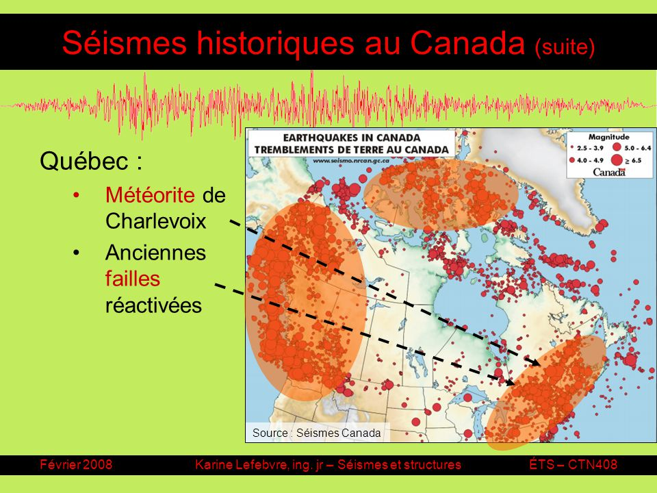 Séismes historiques au Canada (suite)