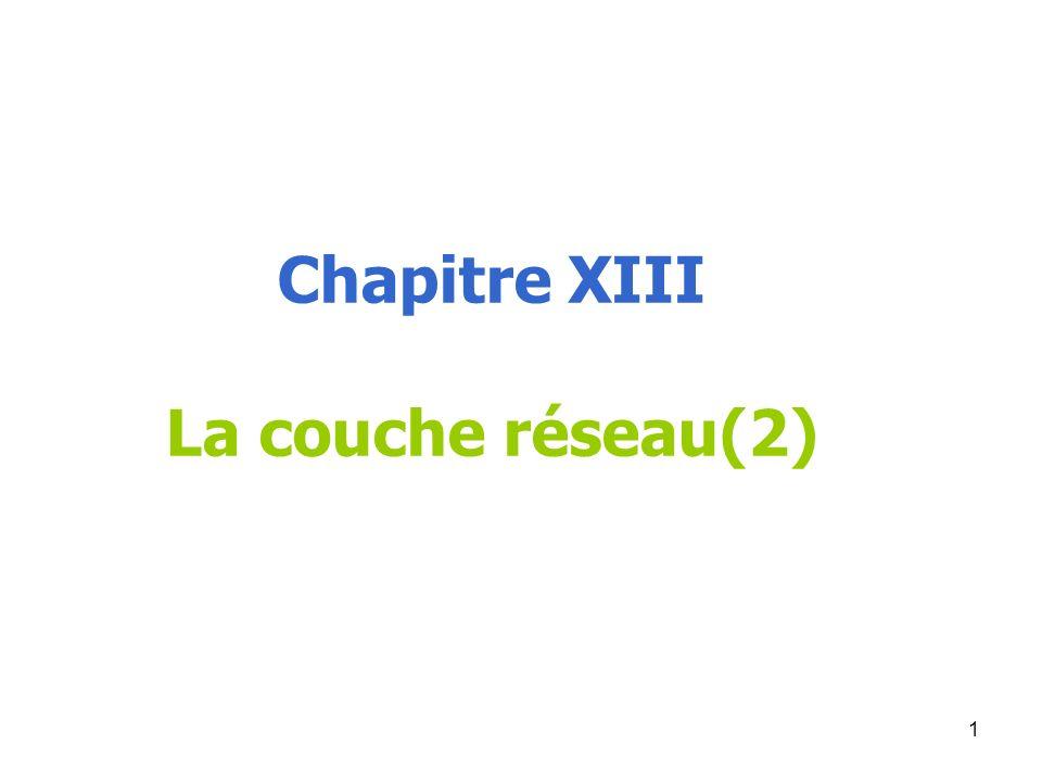Chapitre XIII La couche réseau(2)