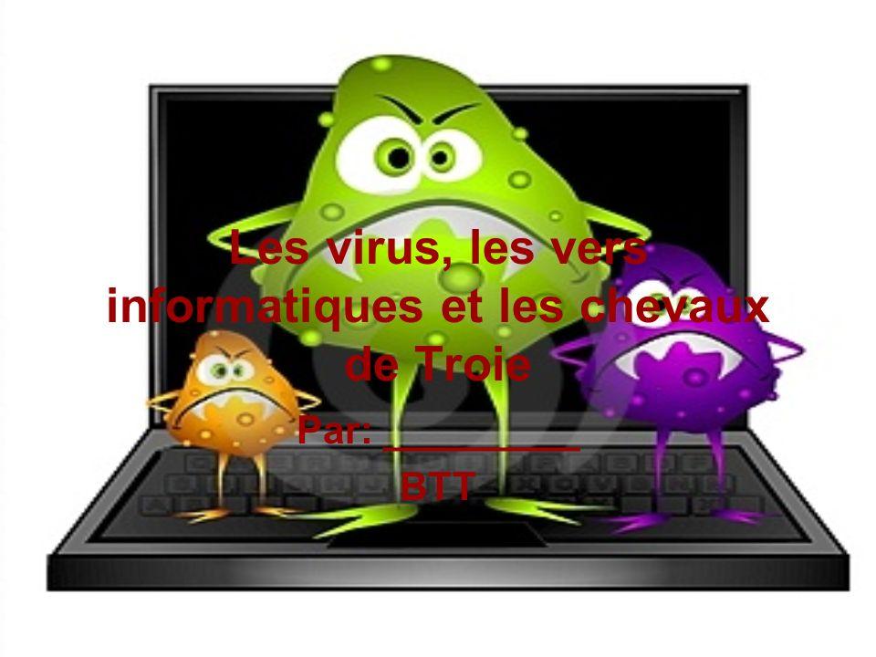 Les virus, les vers informatiques et les chevaux de Troie