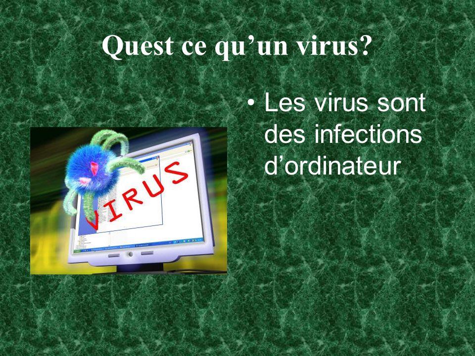 Quest ce qu'un virus Les virus sont des infections d'ordinateur