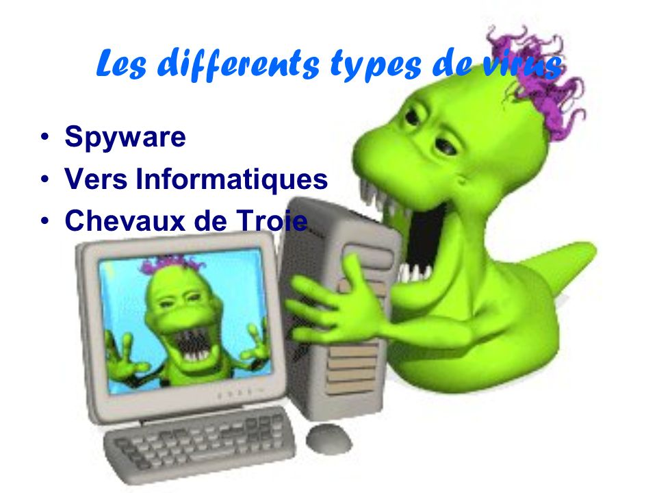 Les differents types de virus
