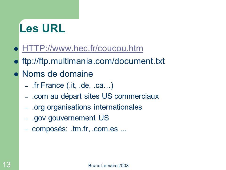 Les URL HTTP://www.hec.fr/coucou.htm