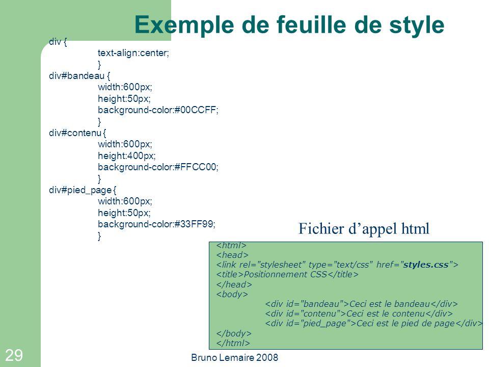 Exemple de feuille de style