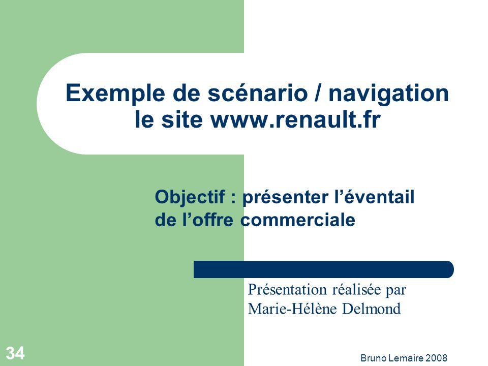 Exemple de scénario / navigation le site www.renault.fr