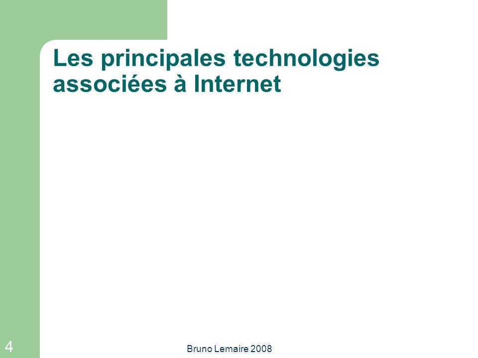 Les principales technologies associées à Internet