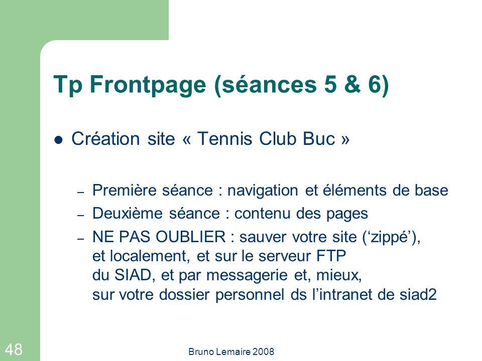 Tp Frontpage (séances 5 & 6)