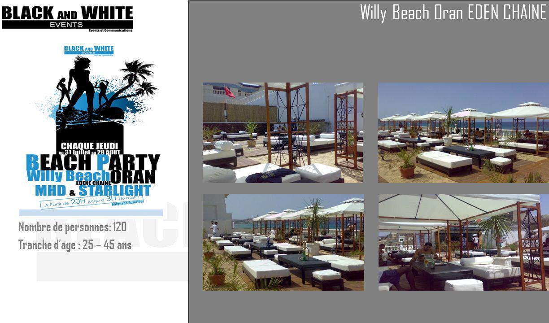 Willy Beach Oran EDEN CHAINE