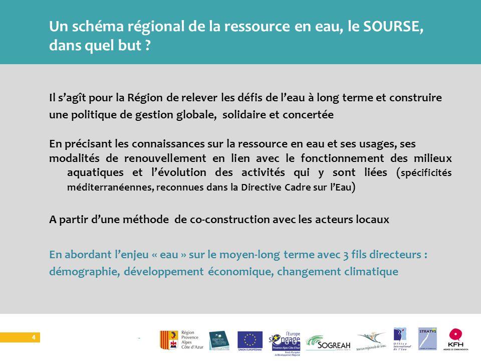 Un schéma régional de la ressource en eau, le SOURSE, dans quel but