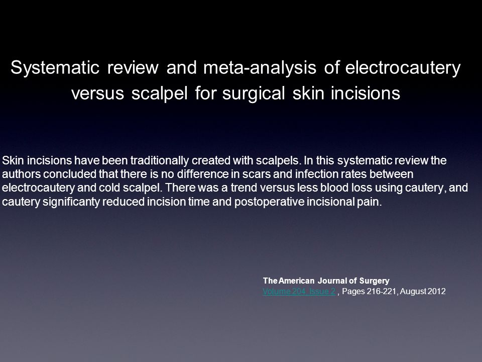 Systematic review and meta-analysis of electrocautery