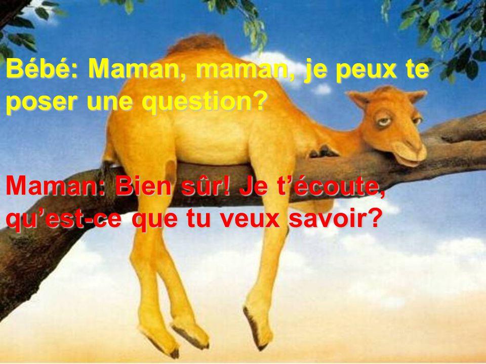 Bébé: Maman, maman, je peux te poser une question
