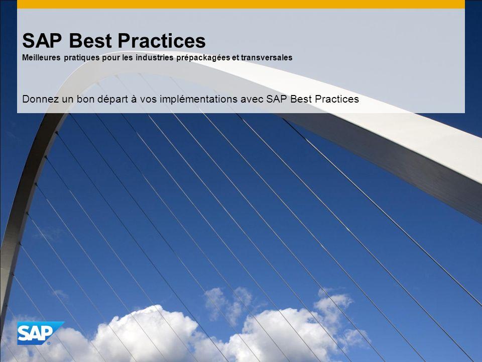 Donnez un bon départ à vos implémentations avec SAP Best Practices