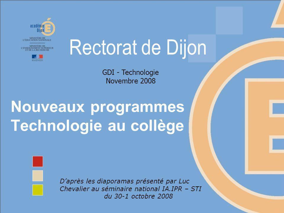 Nouveaux programmes Technologie au collège