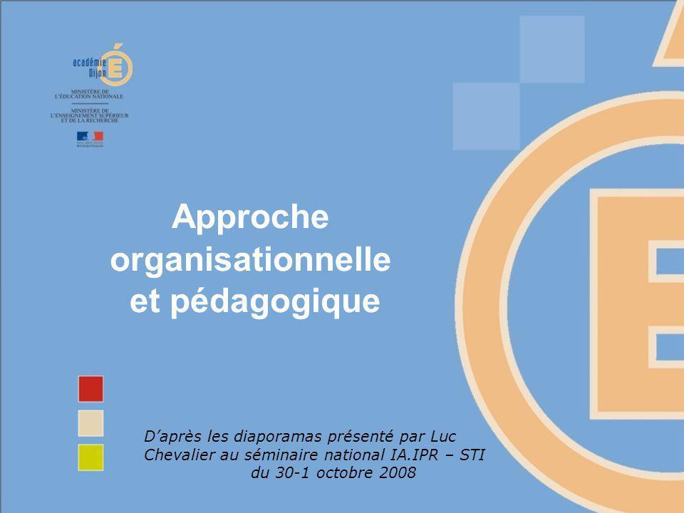 Approche organisationnelle et pédagogique
