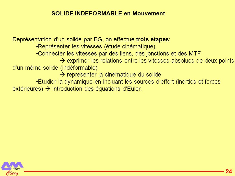 SOLIDE INDEFORMABLE en Mouvement