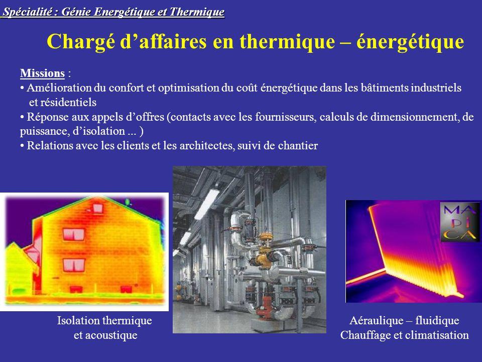 Chargé d'affaires en thermique – énergétique