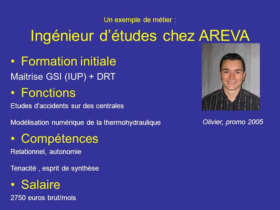 Un exemple de métier : Ingénieur d'études chez AREVA